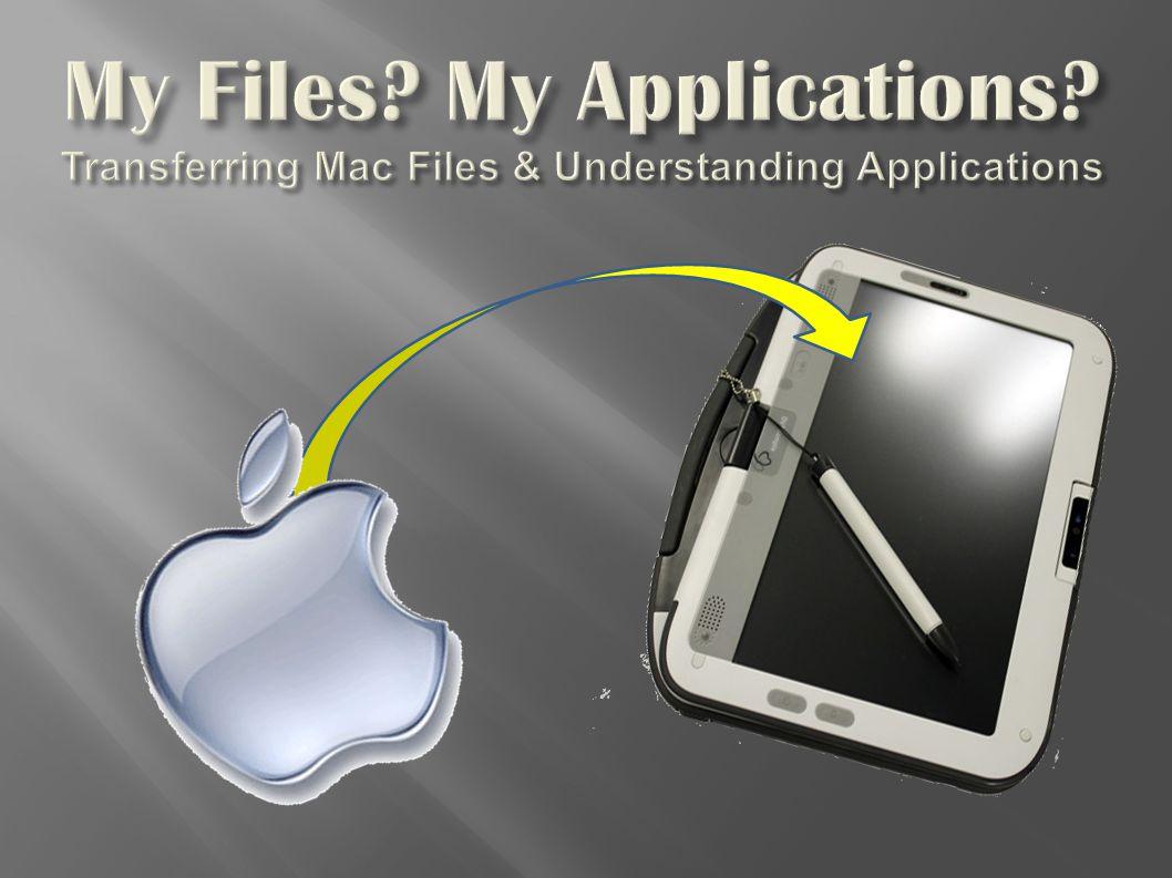 My Files My Applications Transferring Mac Files & Understanding Applications