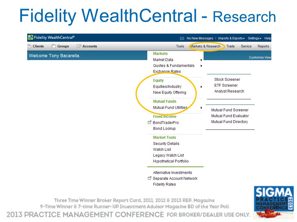 26 Fidelity WealthCentral - Research