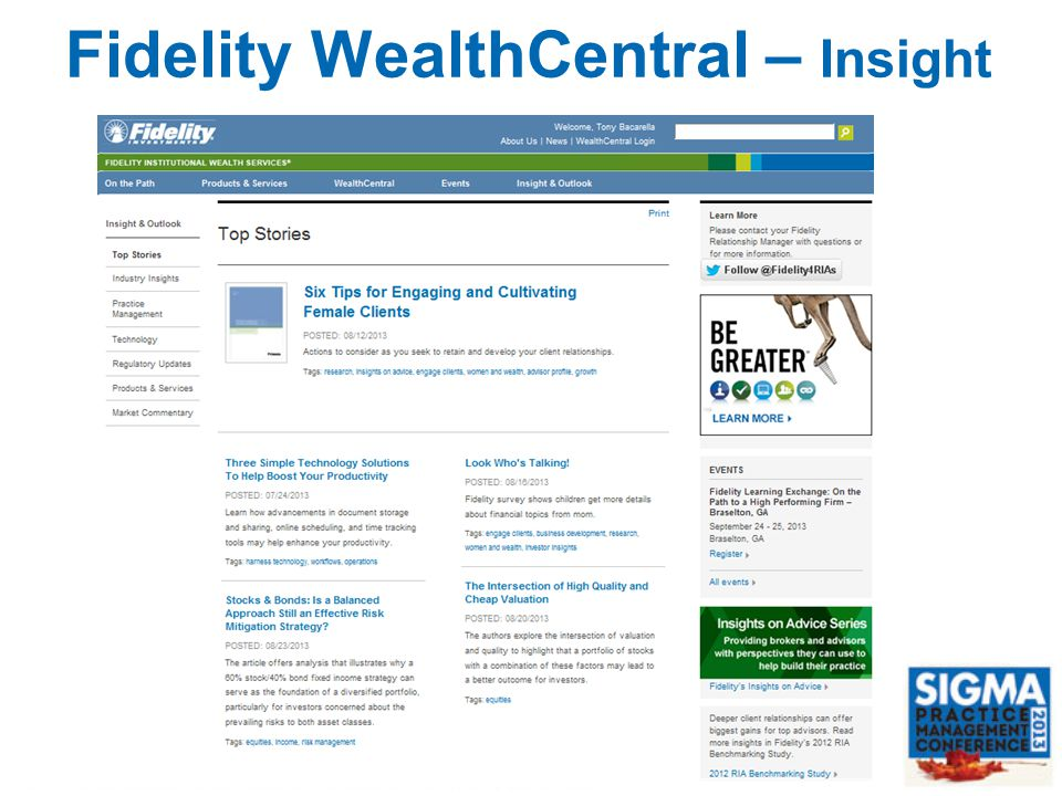 Fidelity WealthCentral – Insight