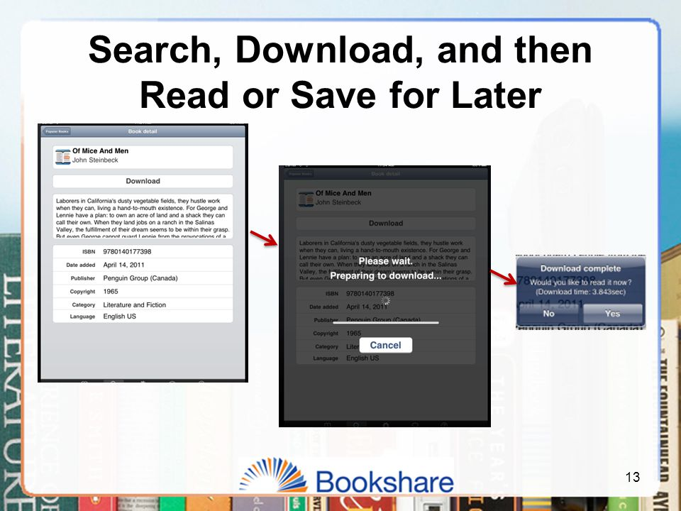 Search, Download, and then Read or Save for Later 13