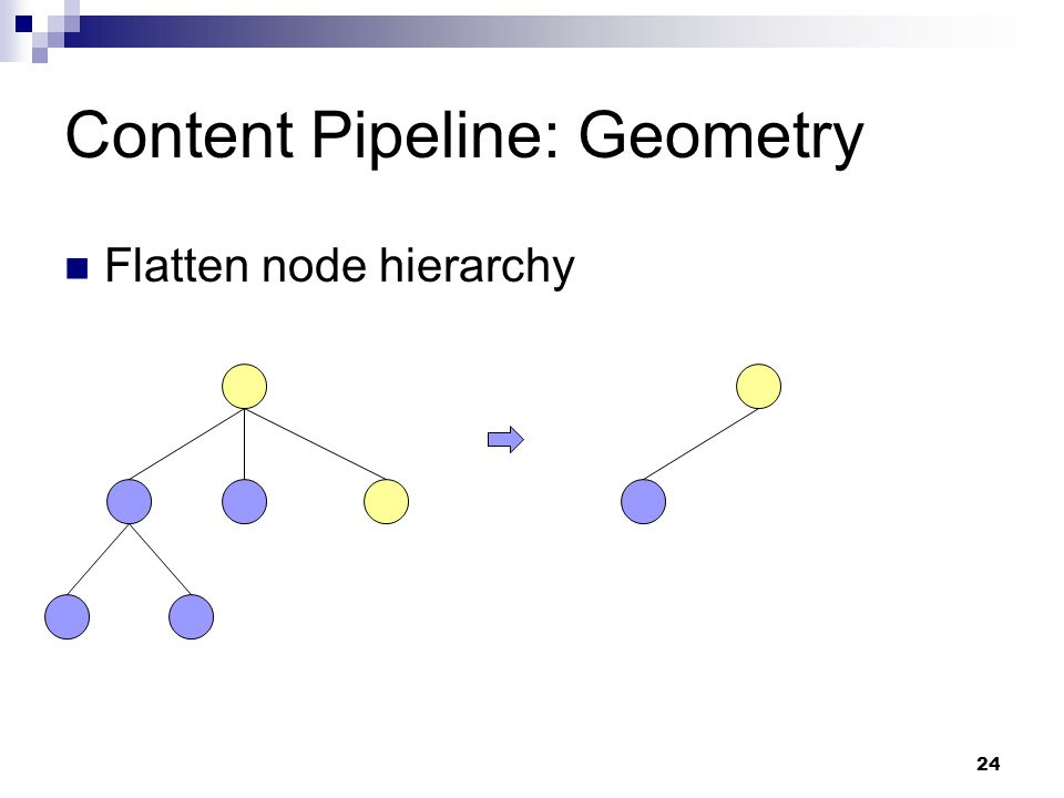 Content Pipeline: Geometry Flatten node hierarchy 24