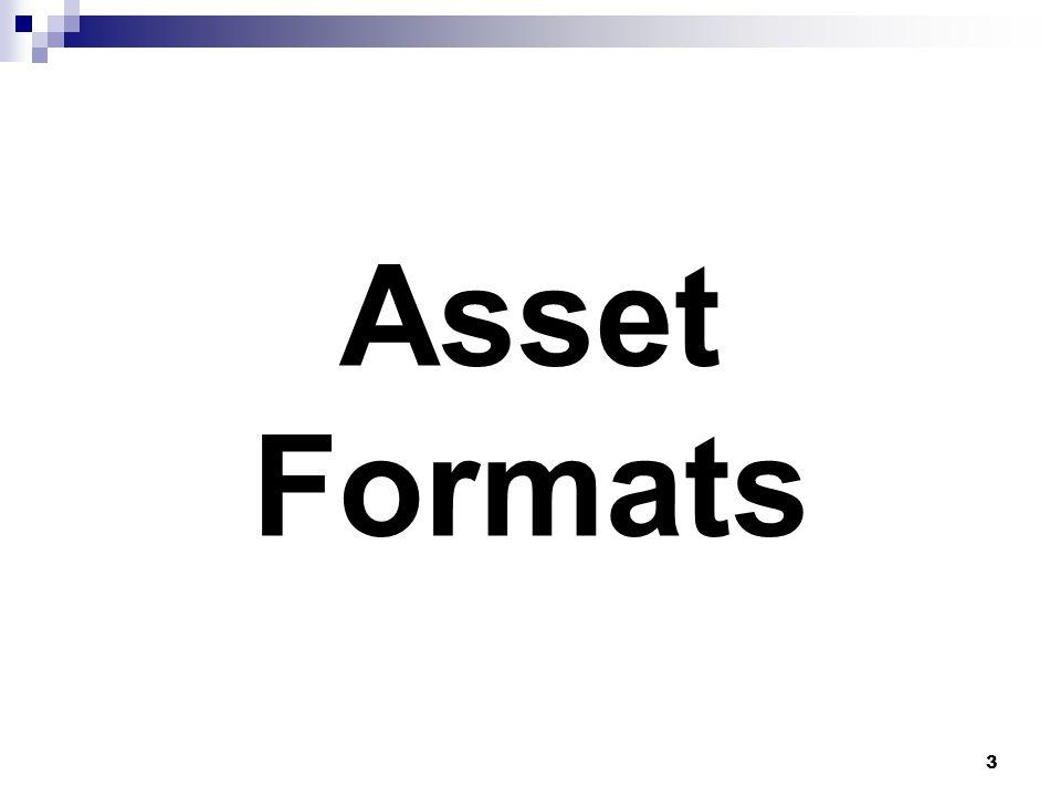 Asset Formats 3