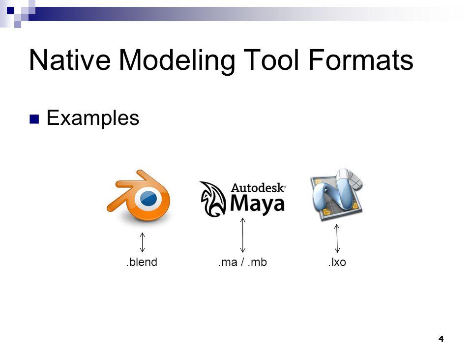 Interchange Formats 5 ….fbx.obj …