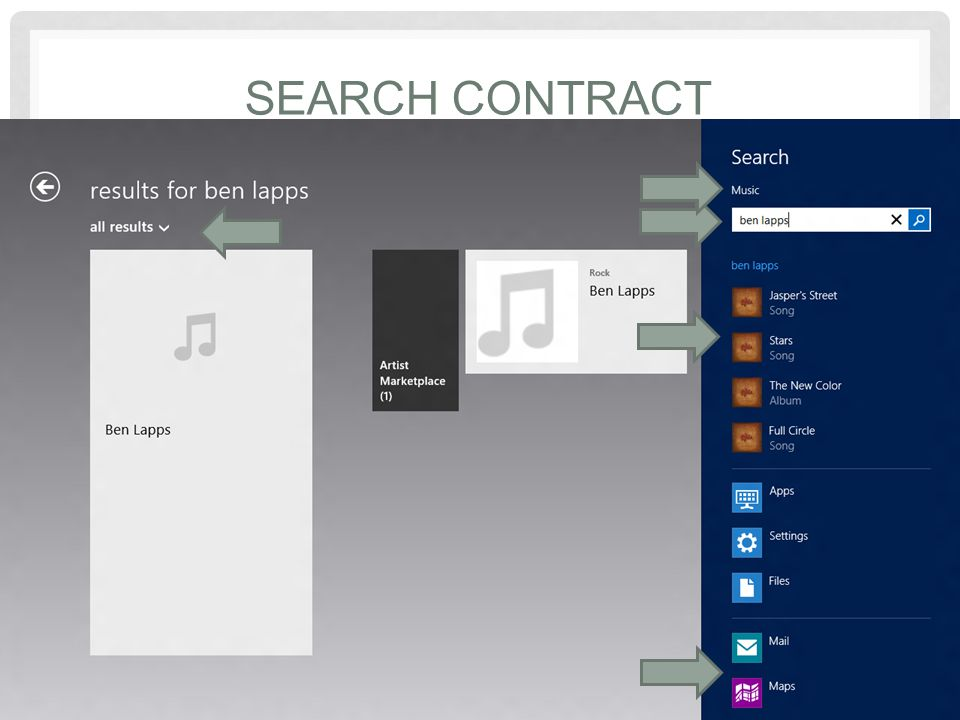 SEARCH CONTRACT Share provides a lightweight, in context, easy experience for accomplishing