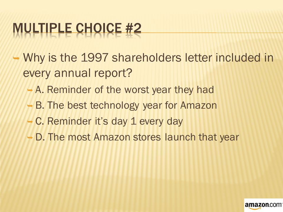  Why is the 1997 shareholders letter included in every annual report.