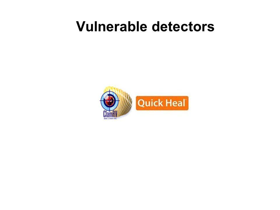 Vulnerable detectors