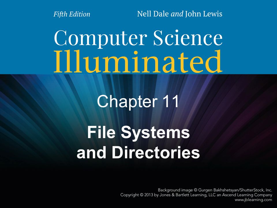 2 Chapter Goals Describe the purpose of files, file systems, and directories Distinguish between text and binary files Identify various file types by their extensions Explain how file types improve file usage Define the basic operations on a file