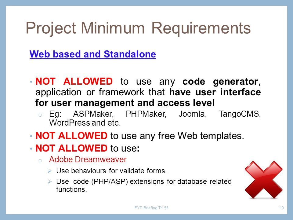 Web based and Standalone NOT ALLOWED to use any code generator, application or framework that have user interface for user management and access level