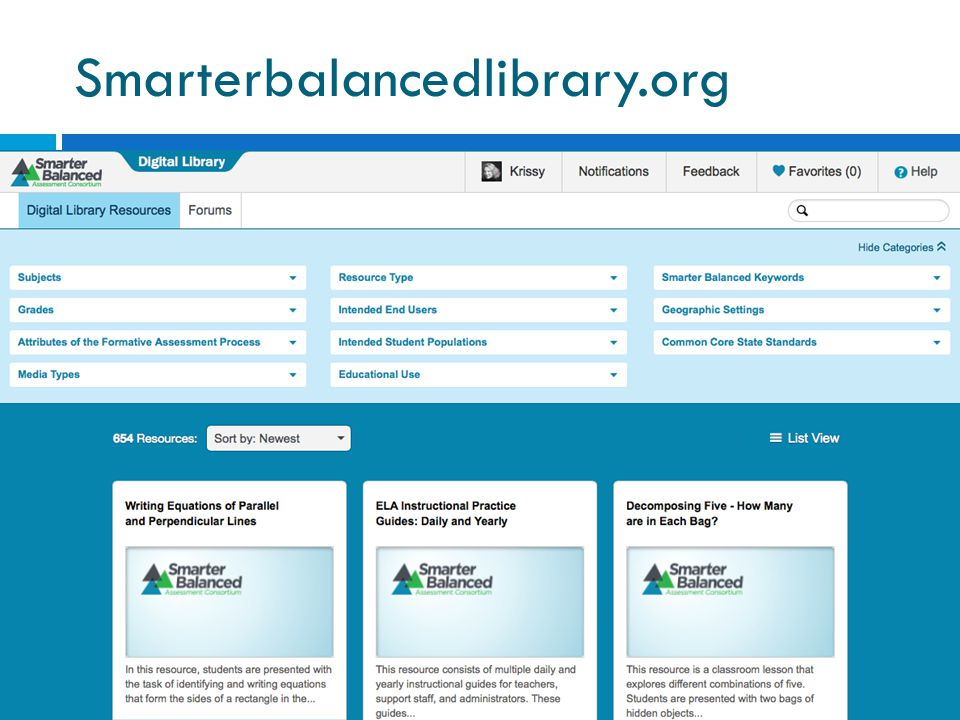 Smarterbalancedlibrary.org