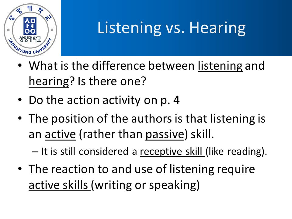 Reciprocal Listening Talking at you or with you.