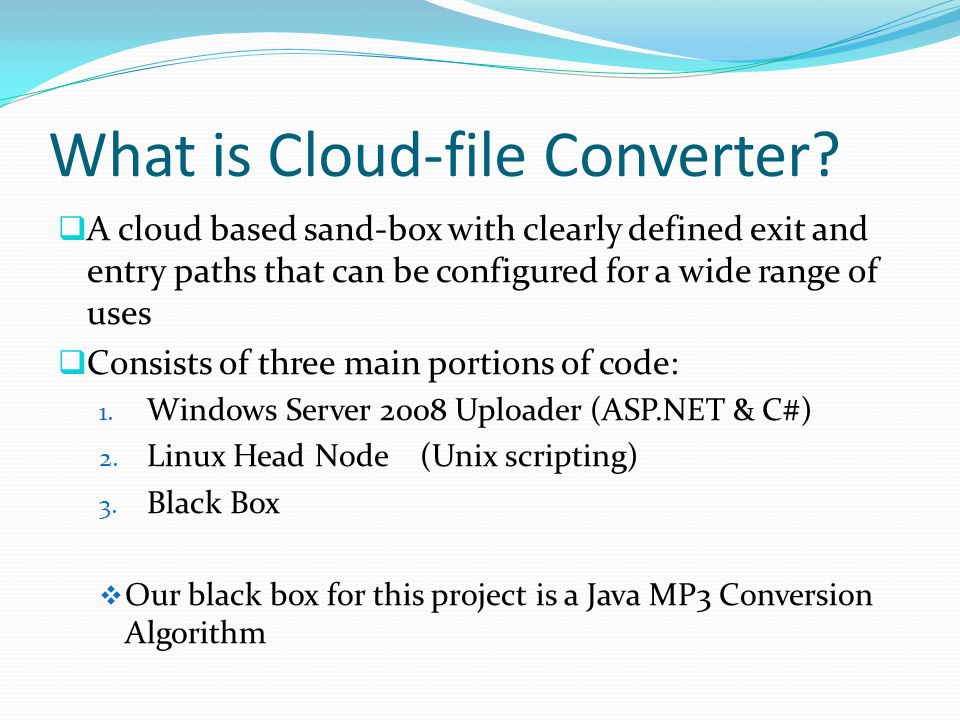 What is Cloud-file Converter.