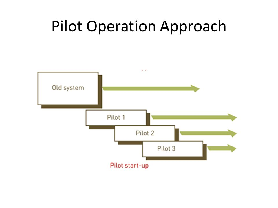 In this approach the new system is implemented in only one part of an organisation (i.e.