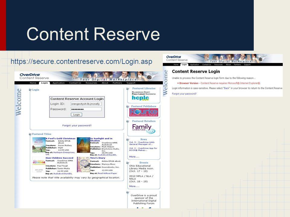 Content Reserve https://secure.contentreserve.com/Login.asp