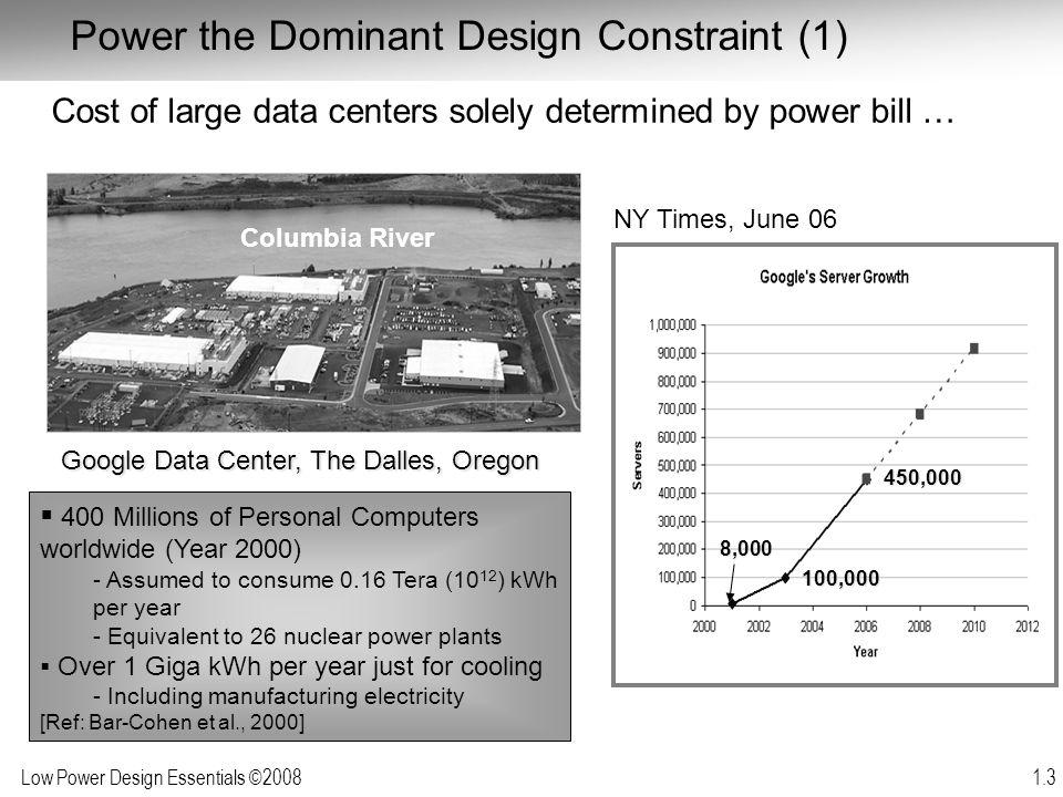 Low Power Design Essentials ©2008 1.4 Power the Dominant Design Constraint [Ref: R.