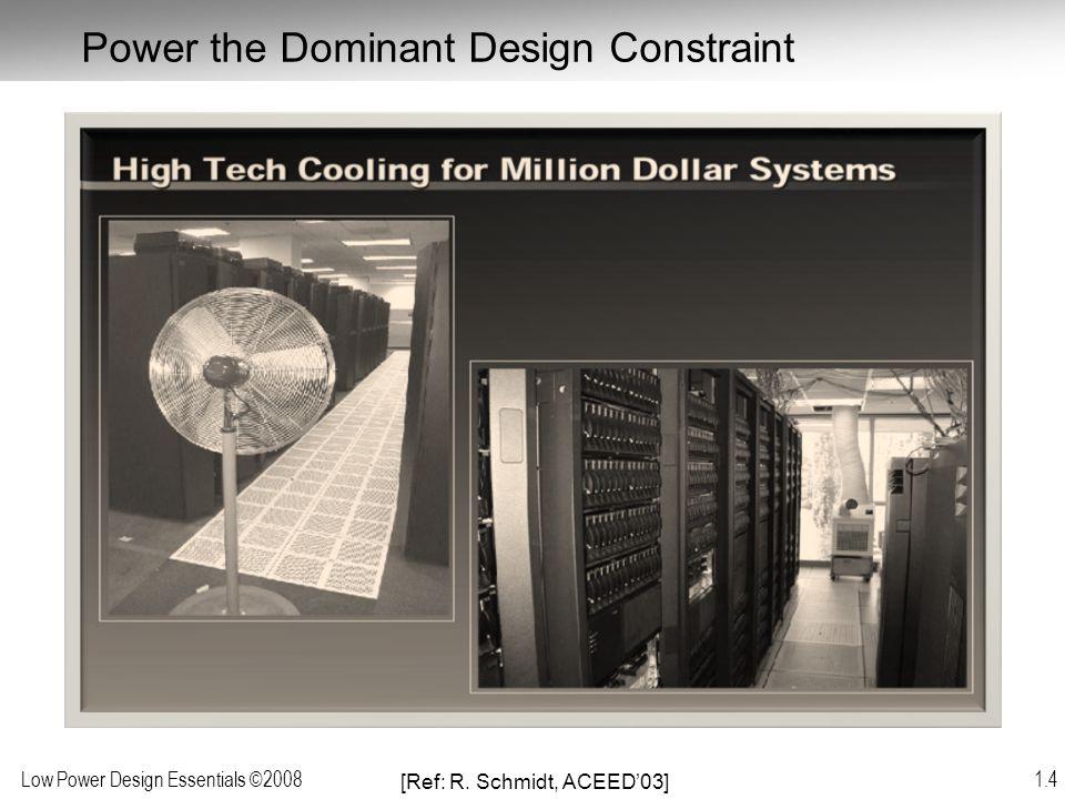 Low Power Design Essentials ©2008 1.5 Chip Architecture and Power Density [Ref: R.