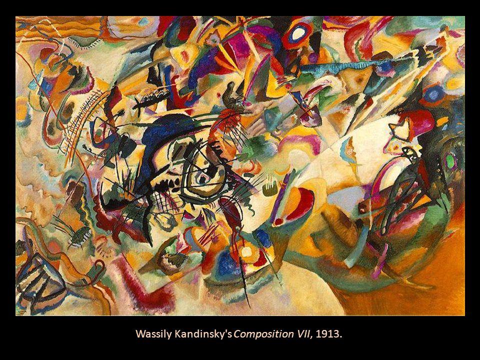 Wassily Kandinsky's Composition VII, 1913.