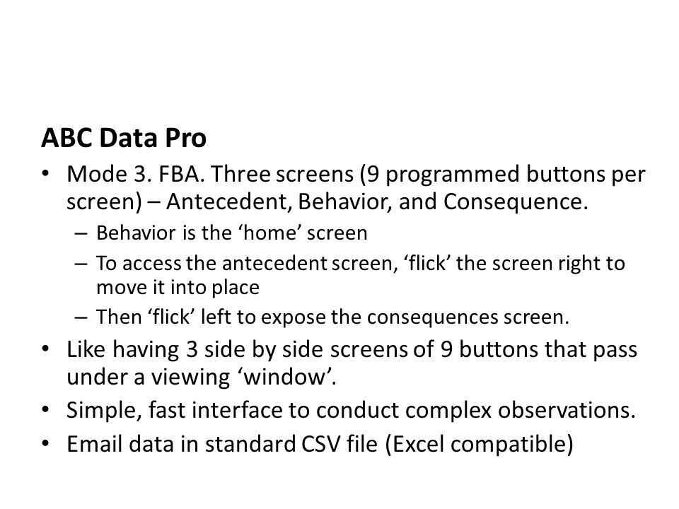 ABC Data Pro Mode 3. FBA.