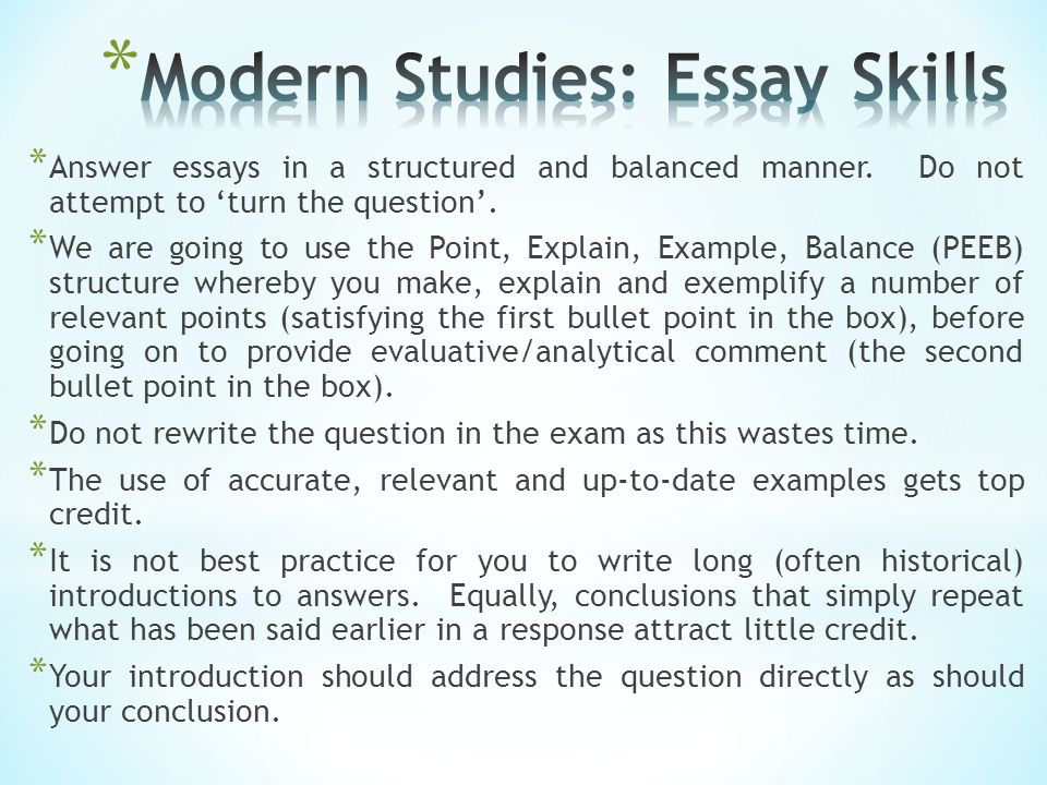 * Essay writing is simply the integration of KU and analysis.