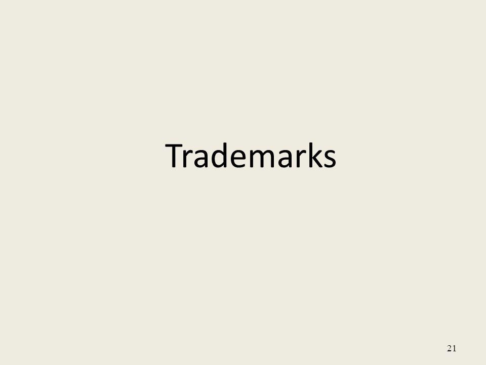 21 Trademarks