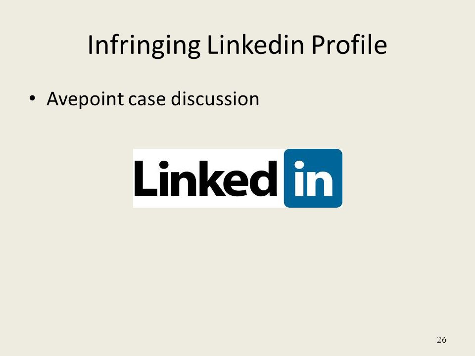 Infringing Linkedin Profile Avepoint case discussion 26