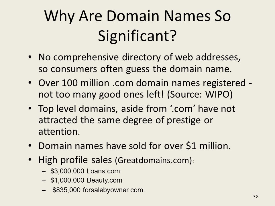 38 Why Are Domain Names So Significant.
