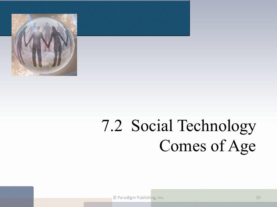 7.2 Social Technology Comes of Age © Paradigm Publishing, Inc.10