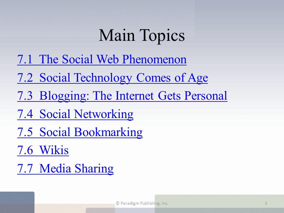 7.4 Social Networking © Paradigm Publishing, Inc.24