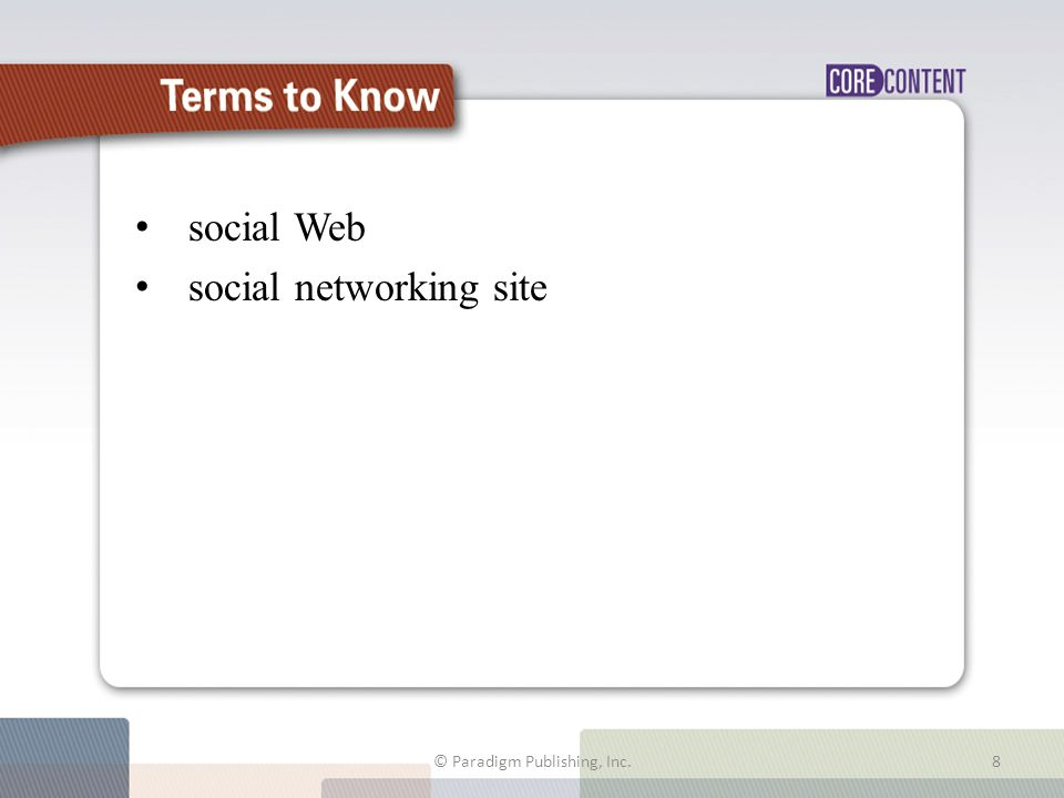 Computers in Your Career Use the social Web to get a job.