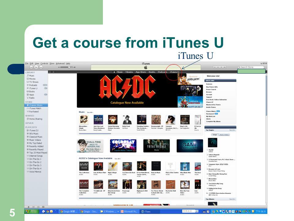 Get a course from iTunes U 5 iTunes U