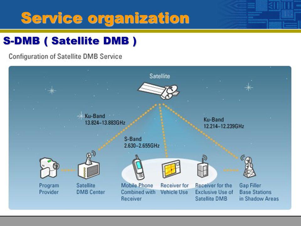 Service organization S-DMB ( Satellite DMB )