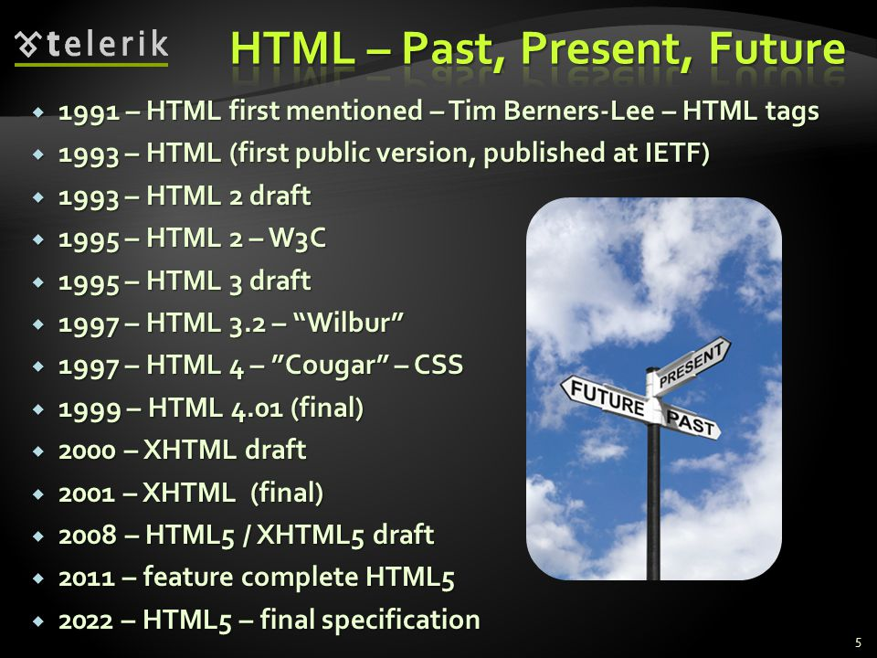  HTML5 is not a thing someone can detect  It consists of many elements that can be detected ,, etc.