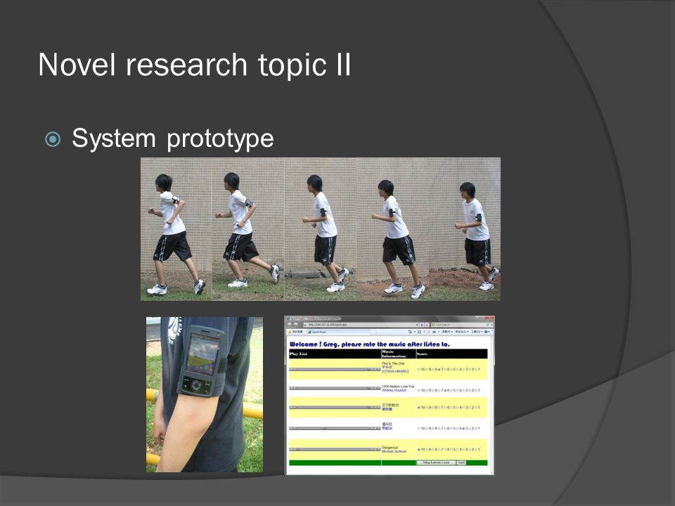 Novel research topic II  System prototype