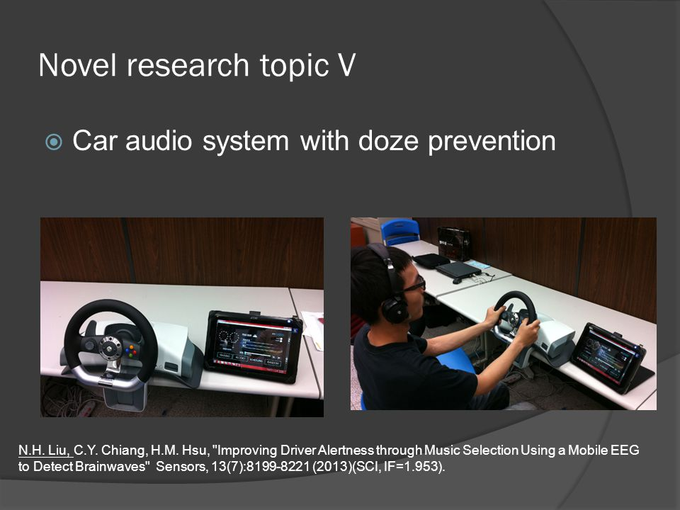 Novel research topic V  Car audio system with doze prevention N.H.