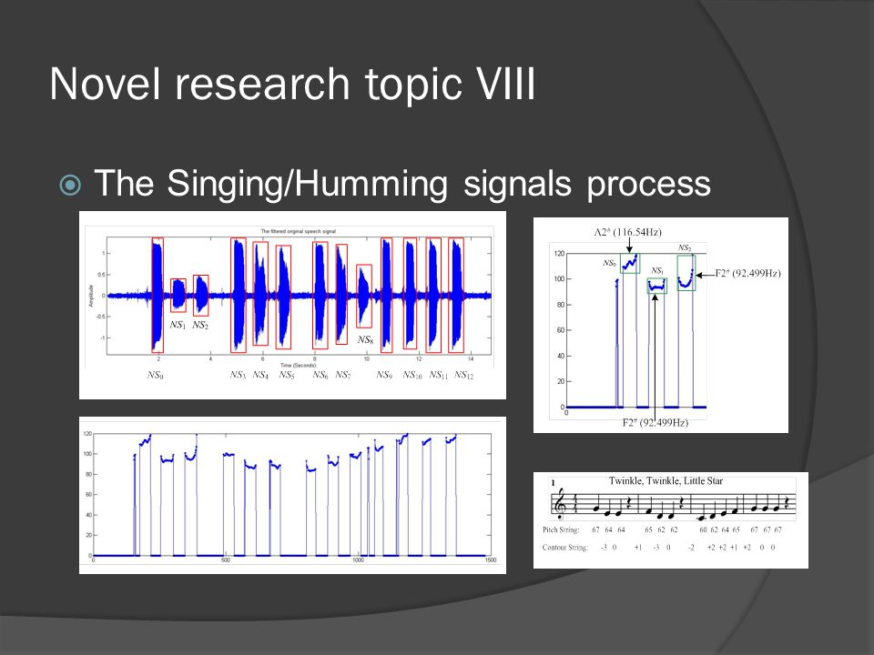 Novel research topic VIII  The Singing/Humming signals process