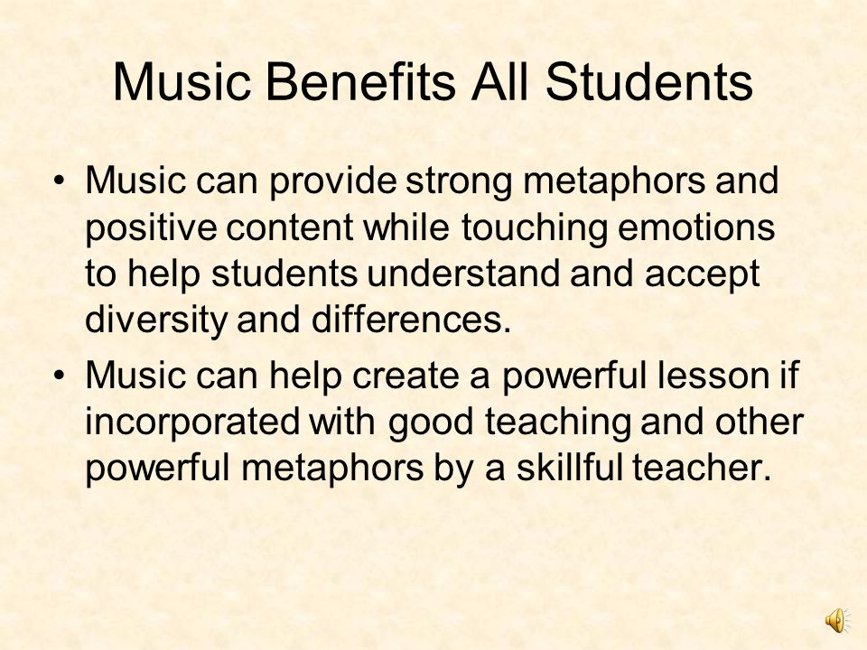 Students with Special Needs Music is an effective task motivator for many students.