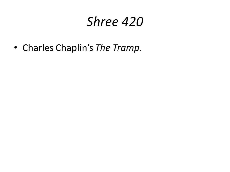 Shree 420 Charles Chaplin's The Tramp.