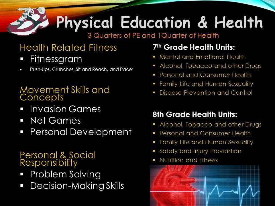 Physical Education & Health Health Related Fitness  Fitnessgram  Push-Ups, Crunches, Sit and Reach, and Pacer Movement Skills and Concepts  Invasio