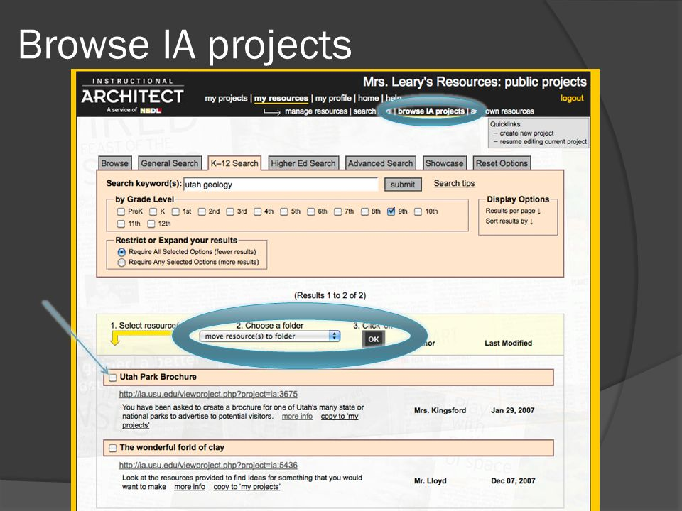 Browse IA projects
