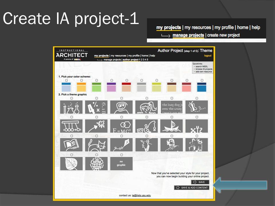 Create IA project-1
