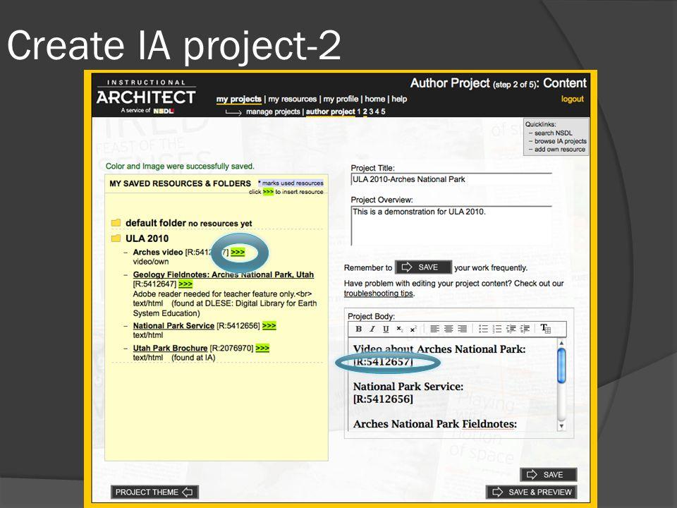 Create IA project-2