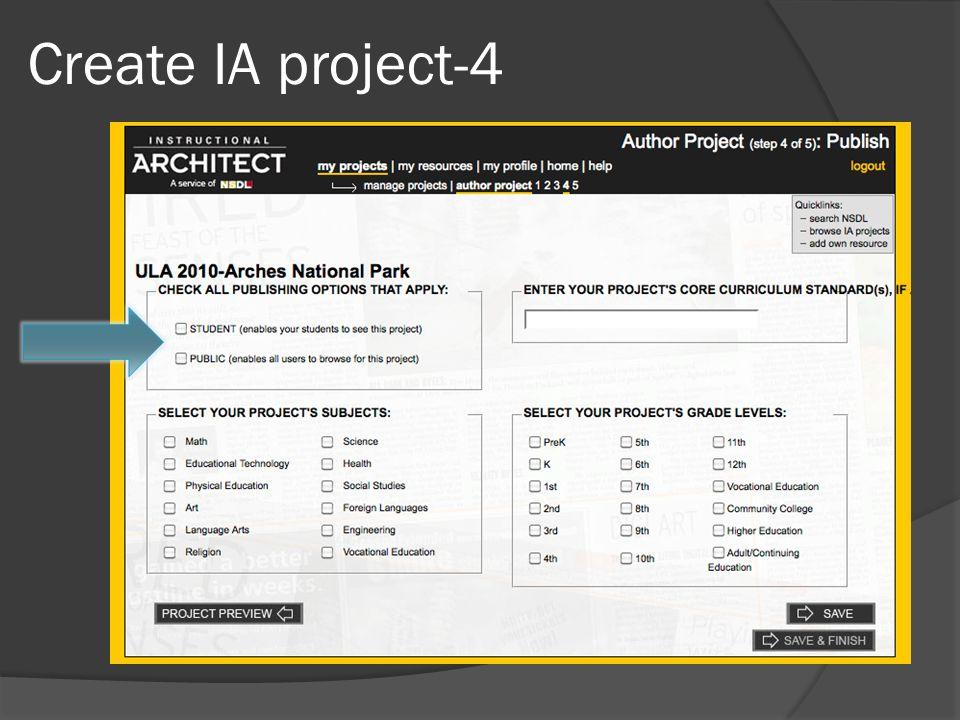 Create IA project-4