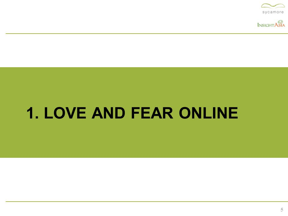 5 1. LOVE AND FEAR ONLINE