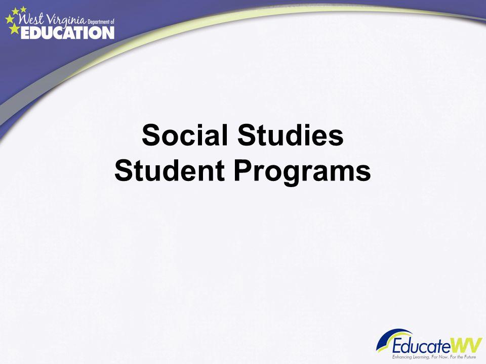 Social Studies Student Programs