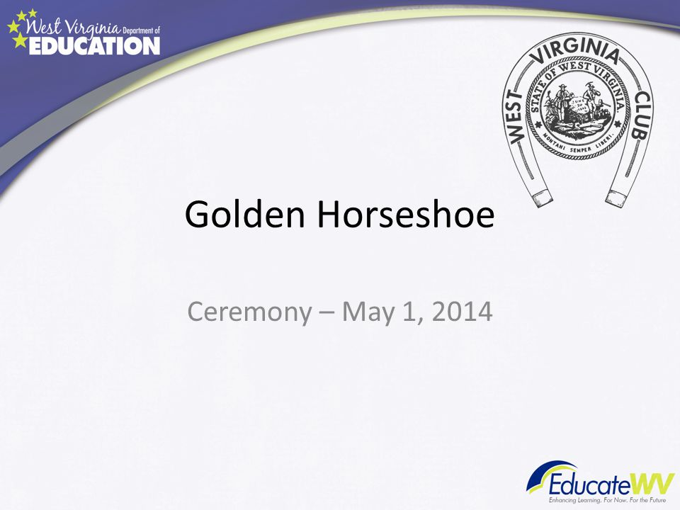 Golden Horseshoe Ceremony – May 1, 2014