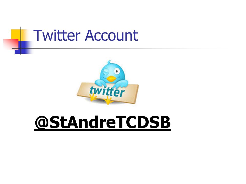 Twitter Account @StAndreTCDSB