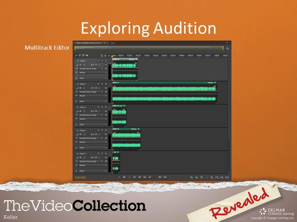 Multitrack Editor Exploring Audition