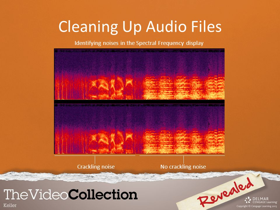 Identifying noises in the Spectral Frequency display Crackling noise No crackling noise Cleaning Up Audio Files