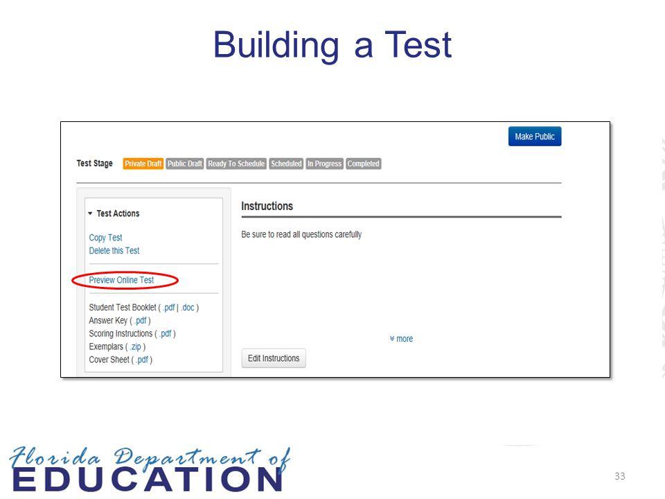 Building a Test 33