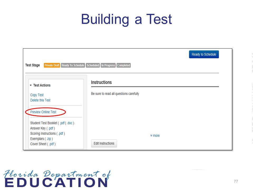 Building a Test 77