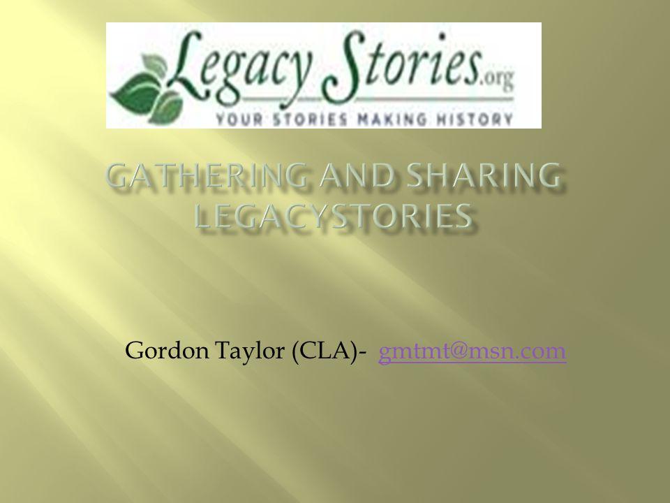 Gordon Taylor (CLA)- gmtmt@msn.comgmtmt@msn.com